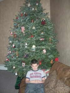 A boy and his tree.