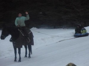 We do what we can to entertain oursleves during long Vermont winter.